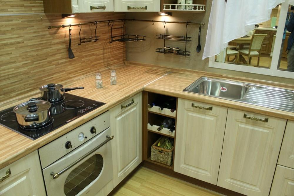 Белый кухонный гарнитур-Кухня МДФ в ПВХ «Модель 128»-фото3
