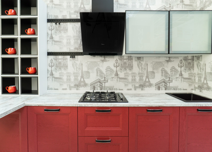 Классические кухни-Кухня МДФ в ПВХ «Модель 51»-фото4