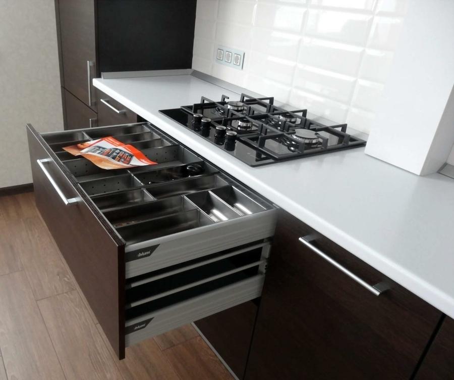 Встроенная кухня-Кухня из пластика «Модель 188»-фото5
