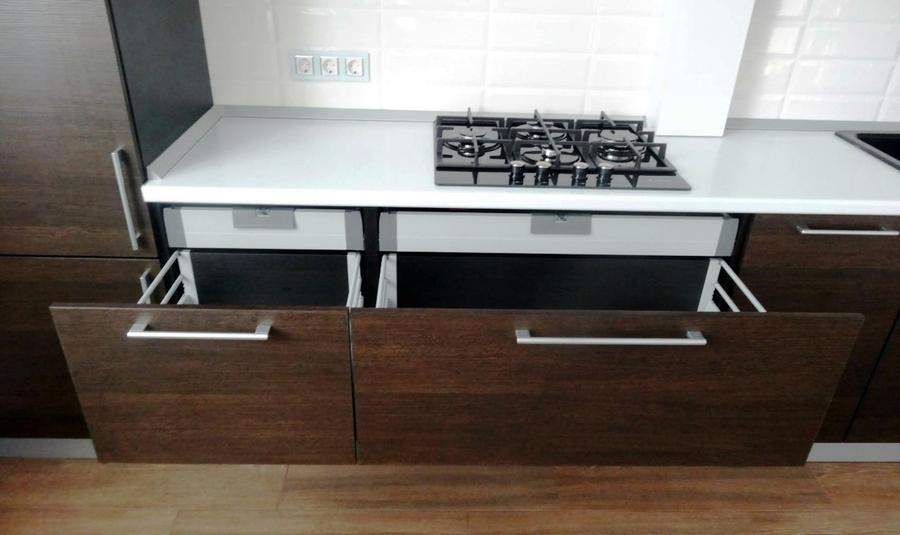 Встроенная кухня-Кухня из пластика «Модель 188»-фото4