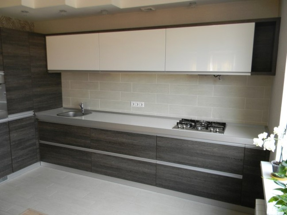 Акриловые кухни-Кухня из пластика «Модель 236»-фото1