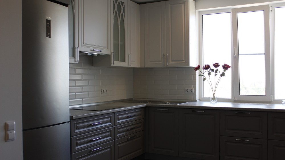 Белый кухонный гарнитур-Кухня МДФ в ПВХ «Модель 324»-фото2