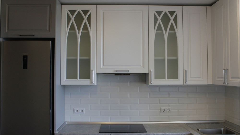 Белый кухонный гарнитур-Кухня МДФ в ПВХ «Модель 324»-фото7