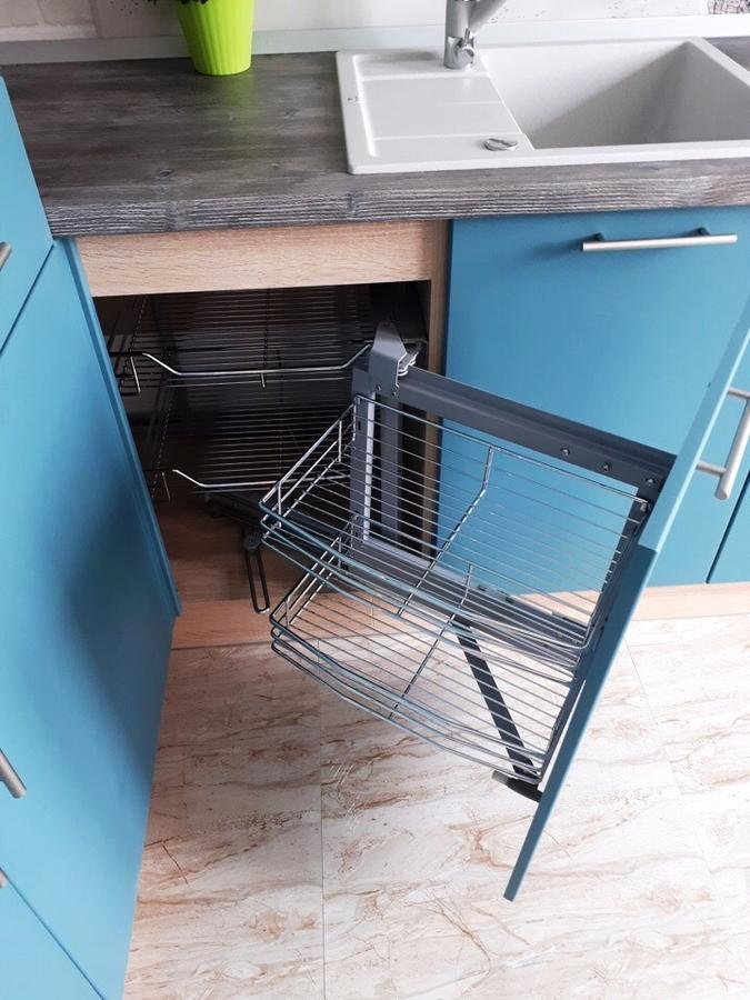 Белый кухонный гарнитур-Кухня из пластика «Модель 375»-фото6