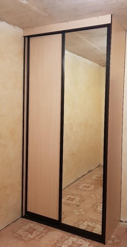 Бельевой шкаф-купе-Шкаф-купе с зеркалом «Модель 340»-фото1