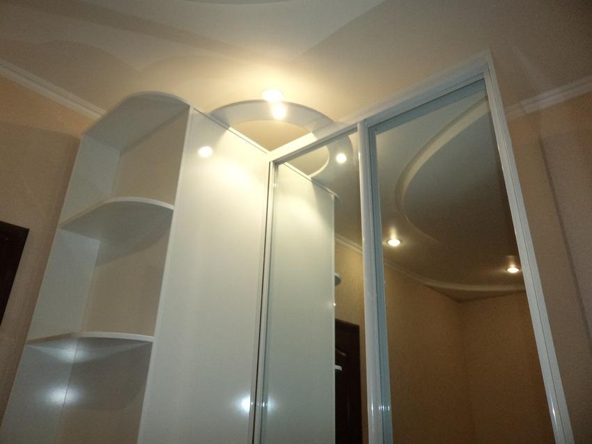 Белые шкафы-купе-Шкаф-купе с зеркалом «Модель 370»-фото2