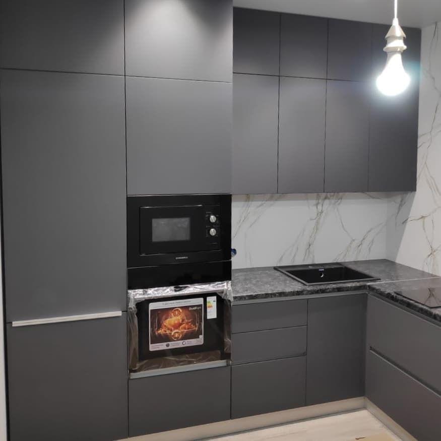 Купить кухню-Кухня МДФ в ПВХ «Модель 673»-фото3