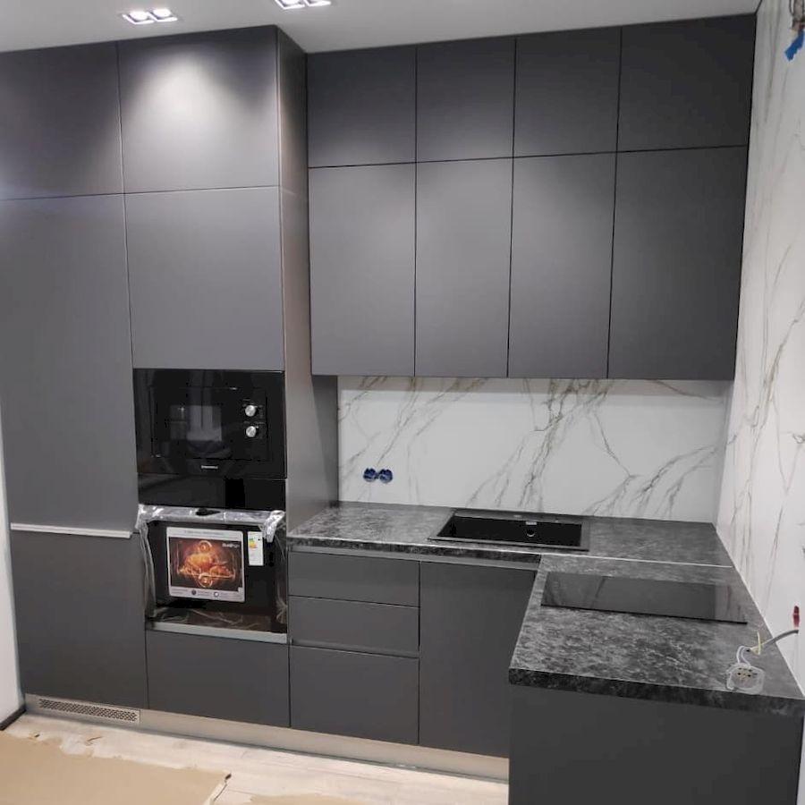 Купить кухню-Кухня МДФ в ПВХ «Модель 673»-фото1