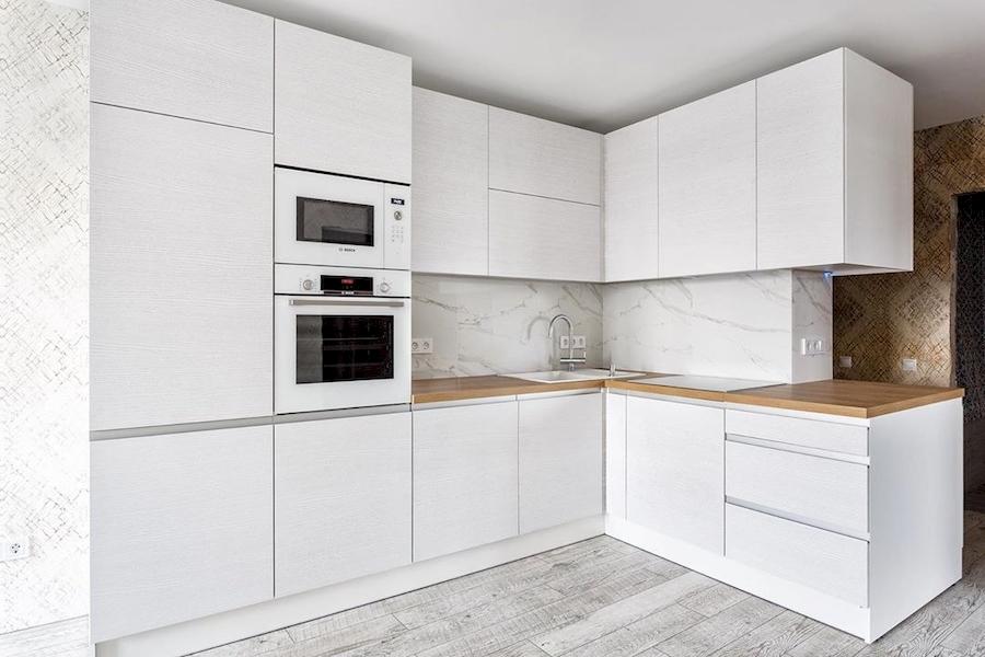 Белый кухонный гарнитур-Кухня из ЛДСП «Модель 583»-фото1