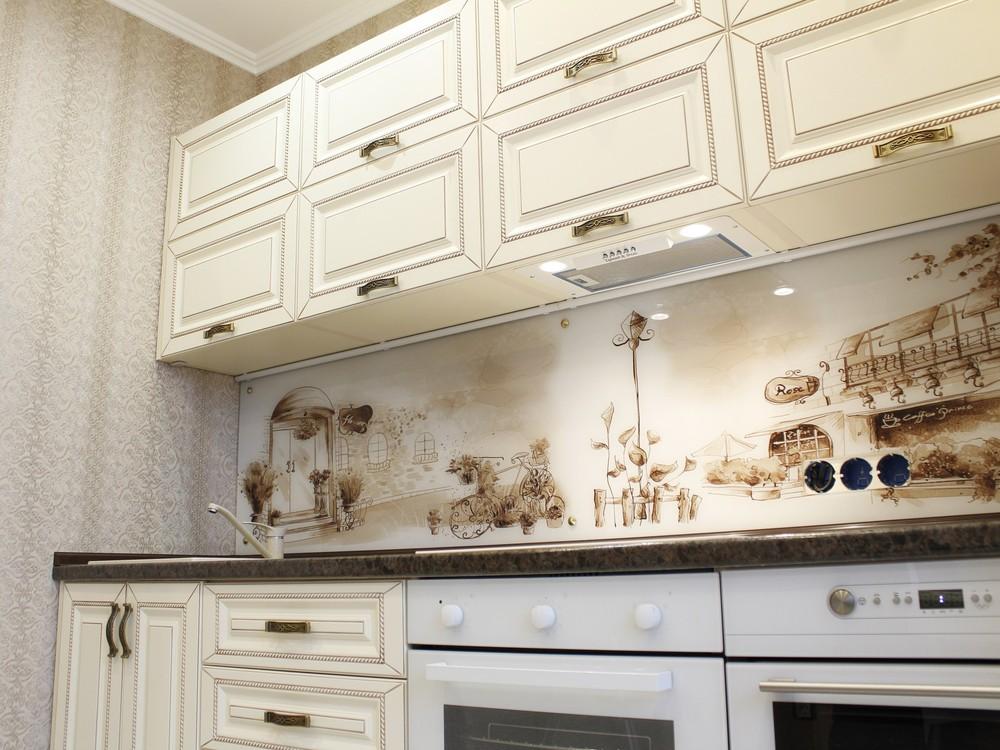 Белый кухонный гарнитур-Кухня МДФ в ПВХ «Модель 140»-фото8