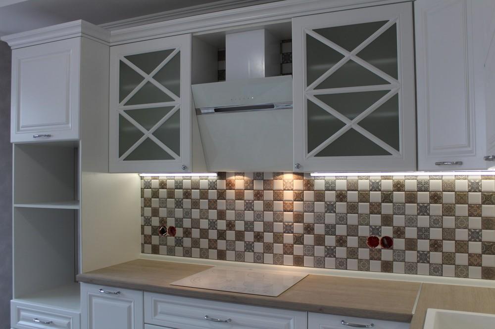 Белый кухонный гарнитур-Кухня МДФ в ПВХ «Модель 82»-фото4