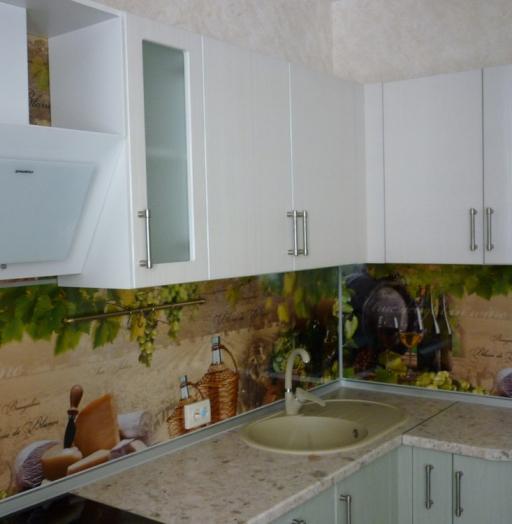 Белый кухонный гарнитур-Кухня МДФ в ПВХ «Модель 216»-фото4