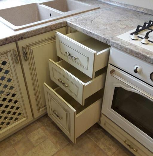 Белый кухонный гарнитур-Кухня «Модель 482»-фото11