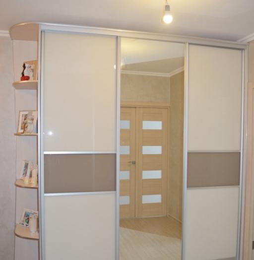 Белые шкафы-купе-Шкаф-купе с зеркалом «Модель 338»-фото3