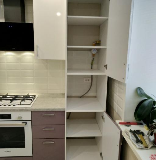 Белый кухонный гарнитур-Кухня МДФ в ПВХ «Модель 544»-фото8