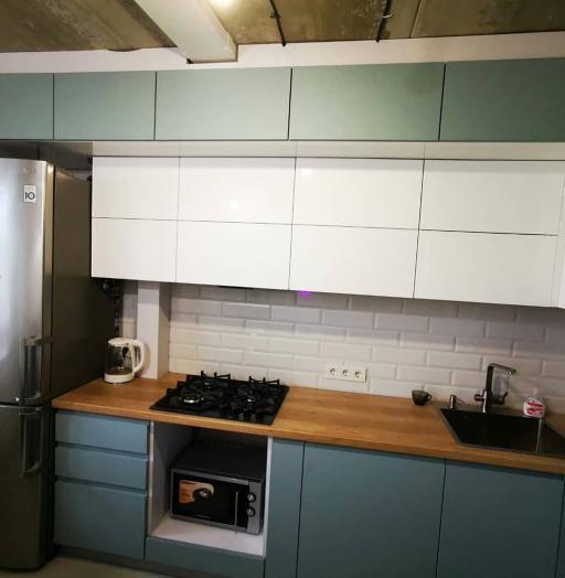 Встроенная кухня-Кухня МДФ в эмали «Модель 624»-фото4